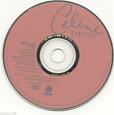 "Rare CELINE DION ""Misled"" 1 track PROMO DJ CD BSK-77344"