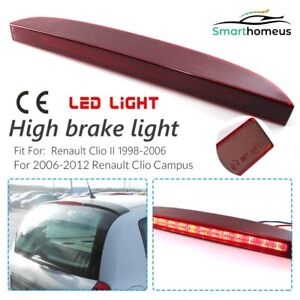 For Renault Clio MK2 98-06 Campus Rear Third LED High Level Brake Light Red Lens