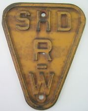 RARE Genuine Cast Iron Route 66 Missouri Embossed Sign Right of Way SHD R-W