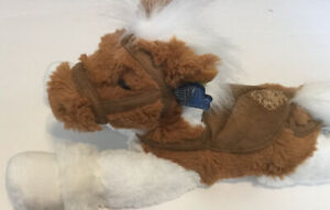 Applause White And Brown Horse Soft Plush Stuffed Animal NWT