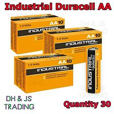 30 Duracell Industrial AA Batteries Alkaline 1.5V LR6 MN1500 Procell Battery AA
