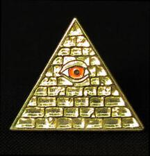 Illuminati Official Pin Gold & w/Red Eye INWO Card Game Steve Jackson SJG