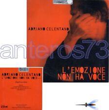 """ADRIANO CELENTANO """"L'EMOZIONE NON HA VOCE"""" RARO CDsingolo PROMO"""