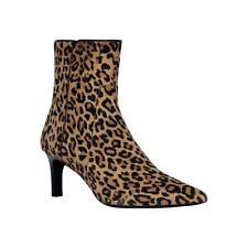GEOX BIBBIANA BEIGE NOIR Bottines Boots léopard Femme Shoes D949CD