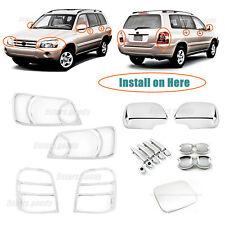 Chrome Molding Covers Trims For Toyota Highlander 2001-2007 / Kluger 2003-2006