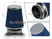 """3.5 Inches 3.5"""" 89 mm Cold Air Intake Narrow Cone Filter Quality BLUE Dodge"""