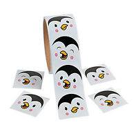 PENGUIN PARTY Penguins Fun Sticker Faces Stickers Favour Pack of 50 Free Postage