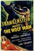 Frankenstein Meets the Wolf Man (1943) Bela Lugosi Lon Chaney Movie Poster 27x40