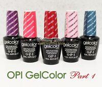 OPI GelColor Kit >SET OF 42 + FREE BASE &TOP Soak Off Gel Nail Colour UV Led Lot