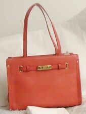 NWT Coach 34915 Swagger Small Tote in Polished Pebble Leather LI Watermellon
