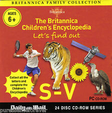 BRITANNICA FAMILY COLLECTION: LET'S FIND OUT S-V (Daily Mail PC CD-ROM)