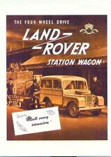 Land Rover Series I Tickford Station Wagon - Modern postcard by Vintage Ad Galle