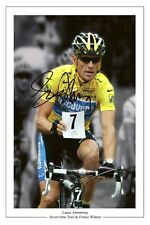 LANCE Armstrong TOUR DE FRANCE 7 Autograph firmata stampa