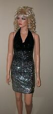 $198 NWT Victoria Secret Gudi Sequin Cowlneck Halter Dress XS