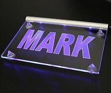 Namensschild LED-LEUCHTSCHILD mit Deinem Namen o. Text  12V bis 24V auch für LKW