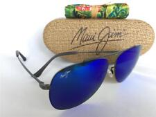Maui Jim CINDER CONE Polarized Titanium Sunglasses B789-02S Gunmetal/Blue Hawaii