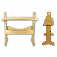 Wooden Weaving Loom Bench, Comfortable, 4 seat heights, level or angled seat