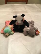 Ty Sammy, Fortune, & Mel beanie bears, Mwmt rare vintage beautiful (Error) koala