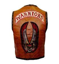 Los guerreros películas Disfraz Elegante cráneo Michael Beck Biker Wear chaleco de cuero