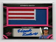 2017 LEAF PERFECT GAME ELIJAH CABELL AUTO JERSEY PATCH RELIC PINK PARALLEL 6/9