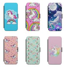 Cute Magical Unicorn Rainbow Pattern WALLET FLIP PHONE CASE COVER FOR IPHONE