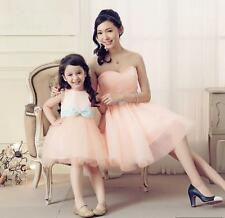 New 2016 Mother Daughter Dress Family Matching Outfits Formal Prom Party Dresses