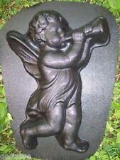 angel blowing trumpet concrete mold plaster mold plastic garden casting mould