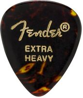 Fender 451 Shape Picks, Tortoise Shell, Extra Heavy, 12 Count