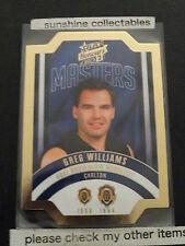 2015 AFL HONOURS 2 THE MASTERS DIE CUT CARD MBM28 GREG WILLIAMS 150/300