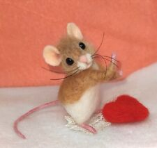 Needle Felted Mouse Handmade Teddy Mice animals gift