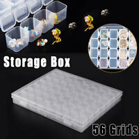 56 Grid Storage Box Embroidery Accessory Stone Jewelry Organizer Rings Container