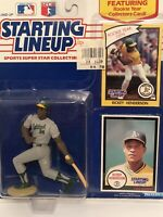 1990 Rickey Henderson Starting Lineup figure Card toy Oakland A's W/ Rookie Pic