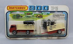 """Matchbox Lesney Superfast TP-19 DODGE CATTLE TRUCK + TRAILER """" RARER RED """""""