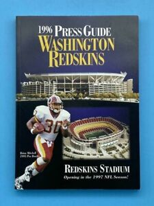 WASHINGTON REDSKINS NFL FOOTBALL MEDIA GUIDE - 1996 - NEAR MINT