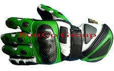 Motorbike Motorcycle Biker Genuine Cowhide Leather CE Armoured Racing Gloves L Black