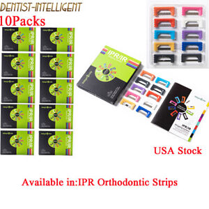 10Packs Ortho Polish Strips Dental IPR Autoclave Interproximal Reduction Strips