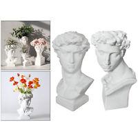 Art Portrait Flower Pot Vase Sculpture Resin Human Face Family Planter Ornament