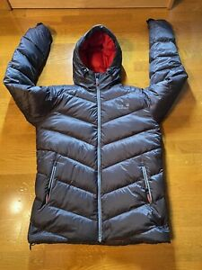 Jack Wolfskin At Home Outdoors Puffer Jacket Full Zip Size L Hoodied