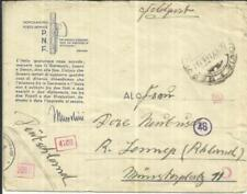 Italy ILLUSTRATED SOLDIERS ENVELOPE-P.N.F.-FELDPOST-WWII CENSORS-to