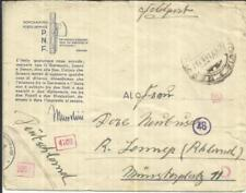 Italy ILLUSTRATED SOLDIERS ENVELOPE-P.N.F FELDPOST-WWII CENSORS-to