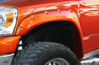 fits 2002-2008 DODGE RAM 1500 POCKET RIVET Bolt-On KING FENDER FLARES - SMOOTH