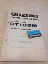 Suzuki Parts list GT185M GT185 M GT 185 catalogue liste pièce détachée par pays