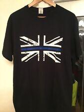 New UK Police Thin Blue Line Black Cotton T-Shirt Size Large BNWOT