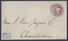 Uk Gb 1888 Netherlands Neat London 18Ju88 Cancel To Amsterdam Mark On Reverse