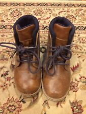 Sonoma Boy Snaiken Brown Weathered 13/Med Black Laces Tie Boots Fall Winter Shoe