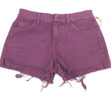 7 for All Mankind Cut Off Style Denim Shorts Size 25 Extra Small Dark Purple
