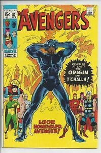 Avengers 87 (5.5) Fine-  -1st Series - Origin of the Black Panther