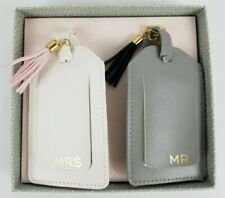 Gartner Studios Mr & Mrs. Luggage Tags Tassel Bridal Wedding Set New