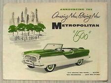 AUSTIN NASH METROPOLITAN 1500 USA Car Sales Brochure c1956 #AM56-5274