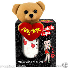Betty Boop Collectible Mug & Bear Cuddle Cups 11oz King Features Kisses Pudgy